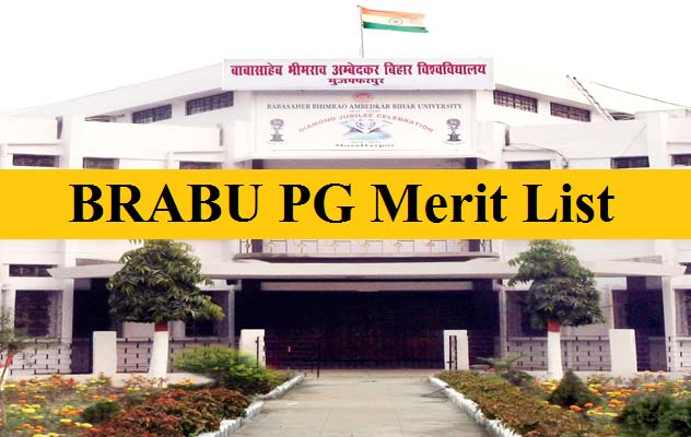 BRABU PG Admission Merit List 2020